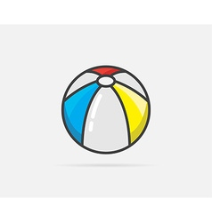 Beach Ball can be used as Logo or Icon vector image