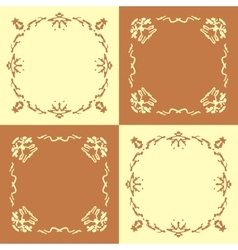 Seamless pattern with abstract hand drawn frames vector
