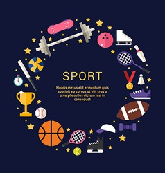 Sport equipment and objects in the shape of circle vector