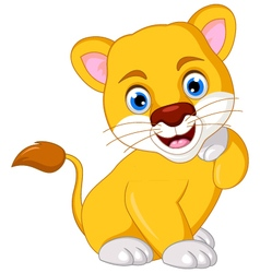Lion cartoon posing vector