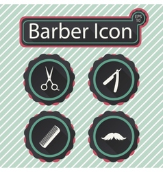 Barber icon vector
