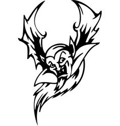 bat - halloween set - vector image vector image