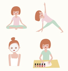 Beauty and health set vector