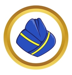 Blue forage cap of stewardess icon vector image