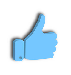blue hand with thumb up gesture of like agree vector image vector image