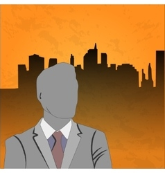 businessman poster vector image vector image