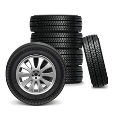 Car wheels vector