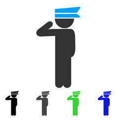 Child officer flat icon vector