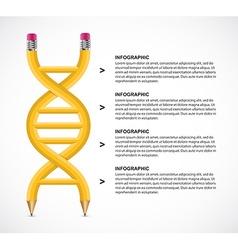 Dna pencil infographics design concept vector