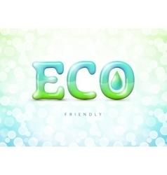 Eco friendly label gradient mesh eps10 vector