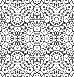 Geometric designs floral simple pattern vector image vector image