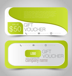 Gift card voucher business banner vector