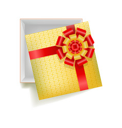 Girtbox with square ornament vector