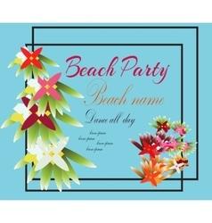 Hello Summer Beach Party Flyer Design EPS vector image vector image