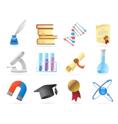 Icons for science vector image vector image