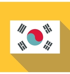 Korean flag icon flat style vector image