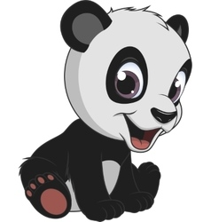 Little funny bear panda vector image