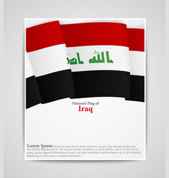 National flag of iraq vector