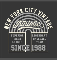 New york vintage athletic vector