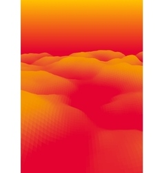 Orange abstract polygonal landscape vector