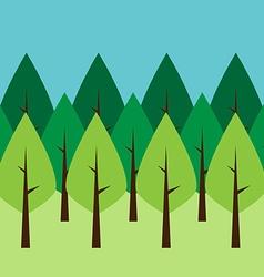 Seamless green trees vector