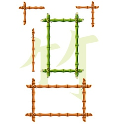 set of bamboo design elements vector image vector image