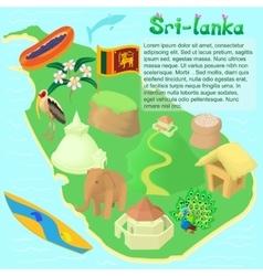 Sri lanka map cartoon style vector image vector image