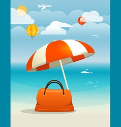Summer seaside vacation Summer vacation concept vector image vector image