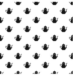 Traditional turkish teapot pattern vector