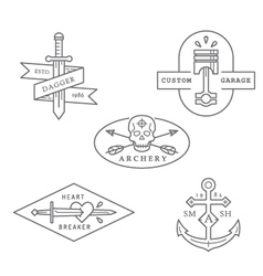 Vintage and retro style logos design vector image