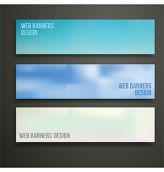 web banners design vector image vector image