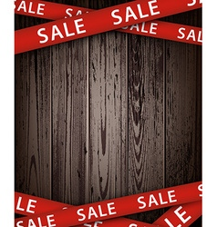 Wooden sale background vector image vector image