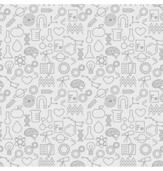 Seamless pattern with science icons education vector