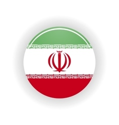 Iran icon circle vector