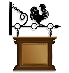 Antique signboard vector image