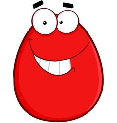 Smiling egg cartoon character vector