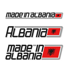 Made in albania vector