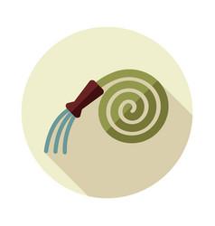 Garden hose flat icon vector