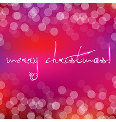 Pink christmas card with bokeh vector