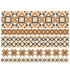 Geometric embroidery borders and frames vector
