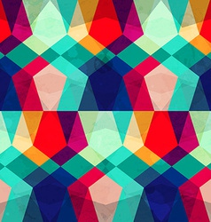 Colored mosaic seamless pattern with grunge effect vector