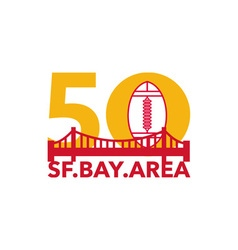 Pro football championship 50 sf bay area vector