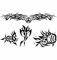 tattoos sea animals vector image