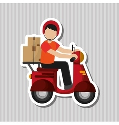 Colorful delivery design vector