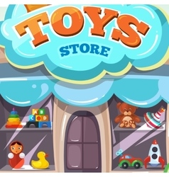Facade of toy store isolate vector