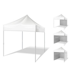 Pop up tent for outdoor event vector