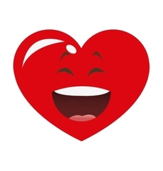 Laughing heart cartoon icon vector