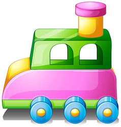 A colorful toy car vector image vector image