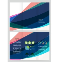 Abstract wave Brochure Template vector image