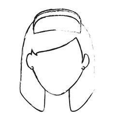Blurred silhouette faceless female nurse front vector